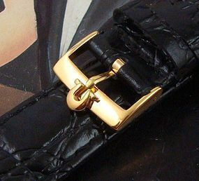 Omega 18mm Gold Plate Logo Buckle 20mm Strap